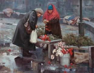 Gary Niblett (American, b. 1943) Rainy Day Flower