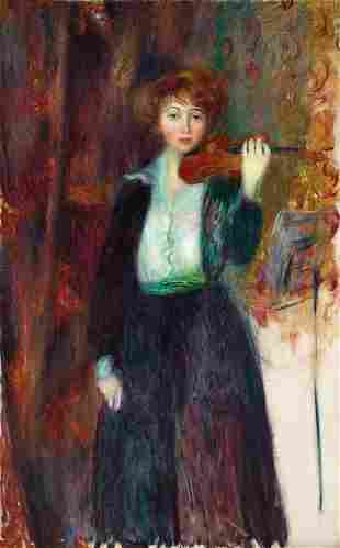 William Glackens (American, 1870-1938) Girl with