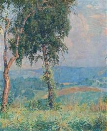 Daniel Garber (American, 1880-1958) Near Solebury, 1917
