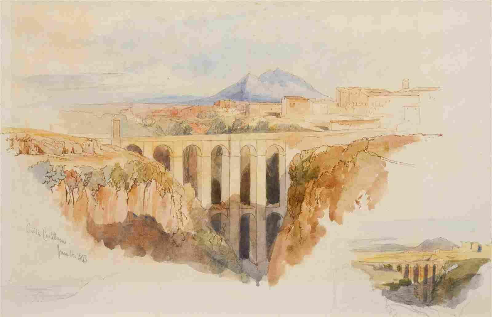 Edward Lear (British, 1812-1888) Civita Castellana,