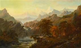 Alexander Loemans (Dutch, 1850-1890) Western Scene with
