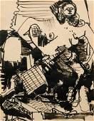 Hans Hofmann (German/American, 1880-1966) Untitled, c.