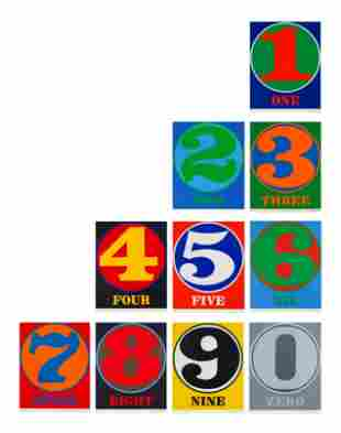 Robert Indiana (American, 1928-2018) Numbers (the