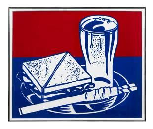 Roy Lichtenstein (American, 1923-1997) Sandwich & Soda