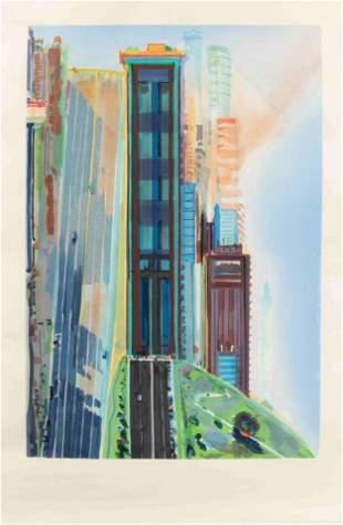 Wayne Thiebaud (American, b. 1920) Hill Street, 1987
