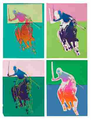 Andy Warhol (American, 1928-1987) Four Polo Players,