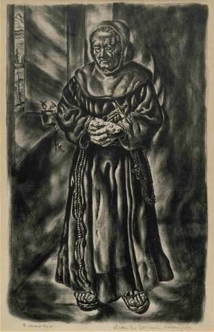 Ivan Albright (American, 1897-1983) Follow Me, 1948