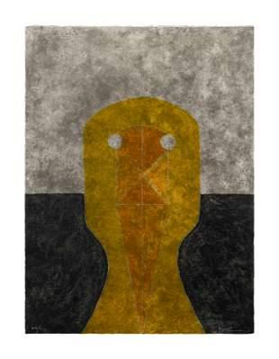 Rufino Tamayo (Mexican, 1899-1991) Cabeza en ochre