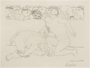 Pablo Picasso (Spanish, 1881-1973) Minotaure Vaincu