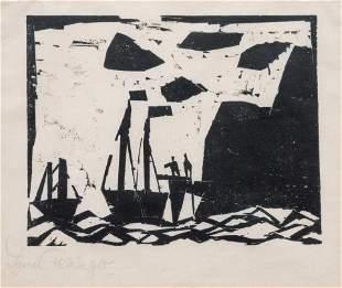 Lyonel Feininger (American/German, 1871-1956) Schiffe