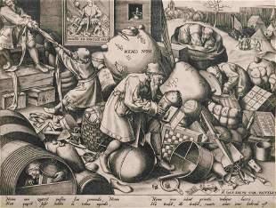 After Pieter Bruegel the Elder by Pieter van der Heyden