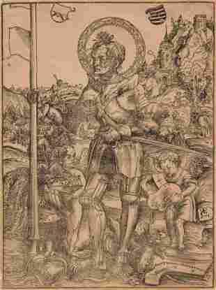 Lucas Cranach the Elder (German, 1472-1553) Saint
