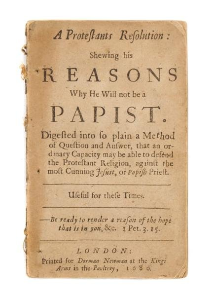 2: ANONYMOUS. A Protestants Resolution. London, 1680.