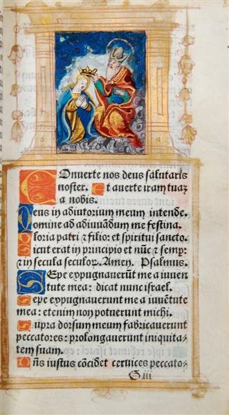 6: (BOOK OF HOURS) Use of Paris, circa 1555). 11 illumi