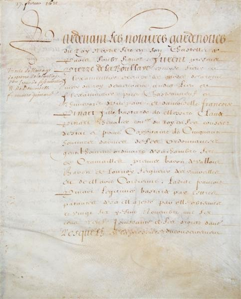 24: MARRIAGE CONTRACT. Vellum, French, 4 pp. Manuscript