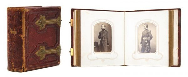 64: (CIVIL WAR) CDV ALBUM. Containing 50 carte d'visite