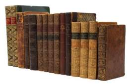 299: (HISTORY) A group of 15 vols. in leather bindings.