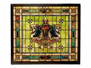 A Rudy Bros. Stained Glass Window Panel