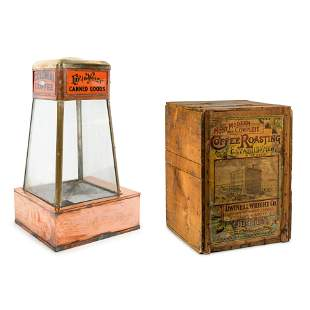 A Dwinell-Wright Co. Coffee Advertising Box, along with