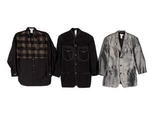 Three Designer Men's Wear Separates; One Versace, Two