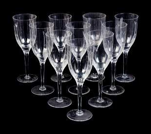 A Set of Twenty-Six Lalique Ange Glasses