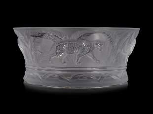 A Lalique Jungle Bowl