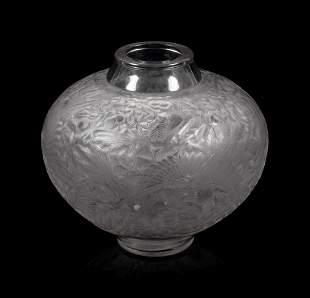A Lalique Aras Vase