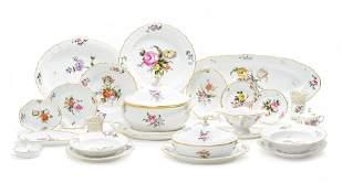 A Royal Copenhagen Porcelain Frijsenborg Pattern Dinner