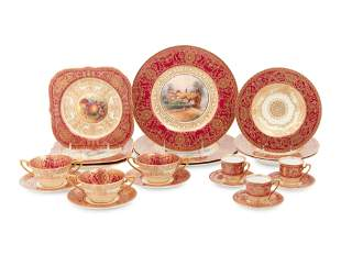 A Royal Worcester Porcelain Dinner Service