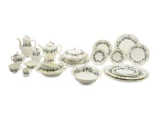 A Royal Worcester Lavinia-Cream Porcelain Service