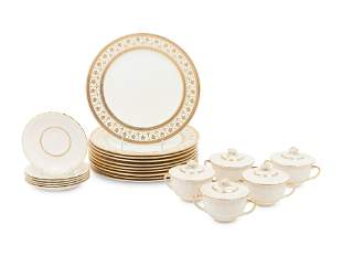A Collection of Crown Sutherland Porcelain Dinnerware