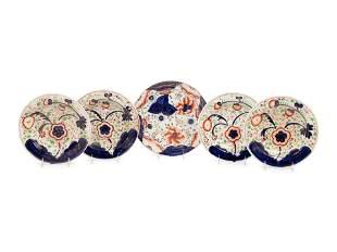 Four English Porcelain Soup Plates