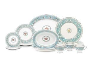 A Wedgwood Florentine Porcelain Dinner Service