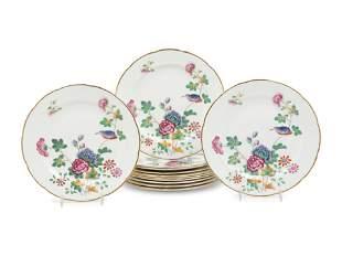 Twelve Wedgwood CuckooPorcelain Dinner Plates
