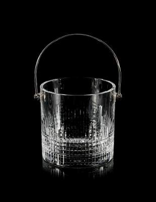 A Baccarat Glass Ice Bucket