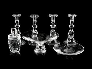 A Group of Steuben Glass Table Articles