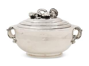 A Georg Jensen Silver Covered Tureen