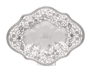 An American Silver Pierced Center Bowl