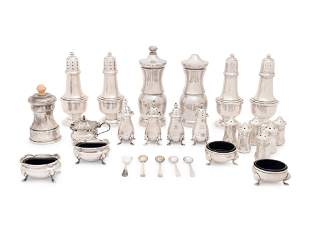 A Collection of American and English Silver Table