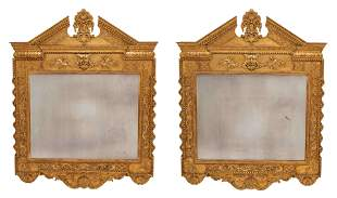A Pair of George II Style Giltwood Mirrors