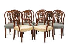 A Set of Ten George III Style Mahogany Dining Chairs