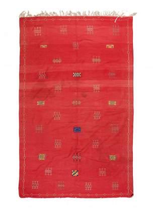 A Moroccan Kilim Wool Rug