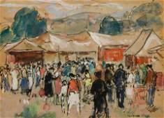 Gifford Beal (American, 1879-1956) Circus at Newburgh