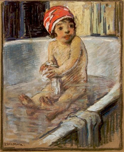 8: Francis Luis Mora, (American, 1874-1940), A Bathing