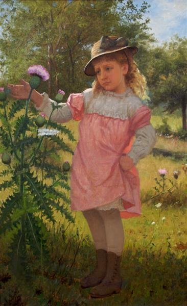 12: John George Brown, (American, 1831-1913), Young Gir