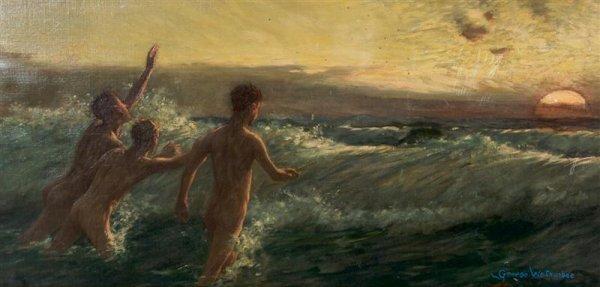 13: George Wetherbee, (American, 1851-1920), The Bather