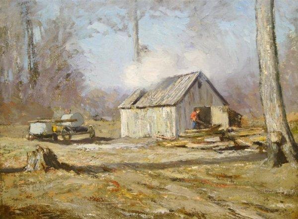 20: Clifton A. Wheeler, (American, 1883-1953), Man near