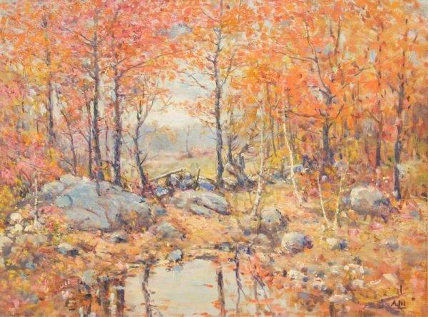 22: Henry Hammond Ahl, (American, 1869-1953), Landscape