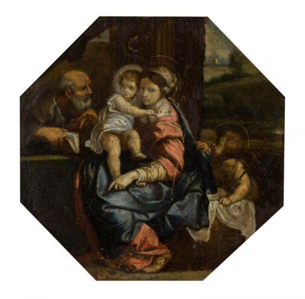 53A: Italian School, 17/18th century, The Holy Family w