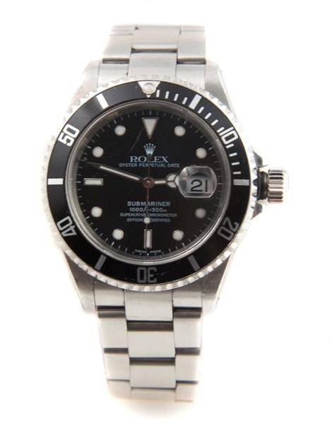 1: A Stainless Steel Oyster Perpetual Submariner Wristw
